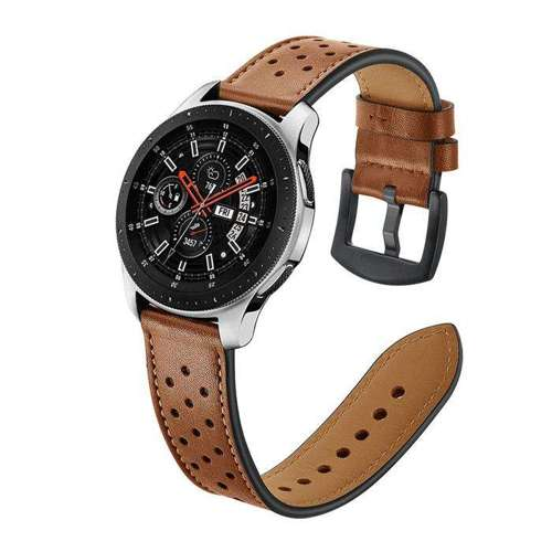 opaska pasek bransoleta LEATHER SAMSUNG GALAXY WATCH 46MM brązowa