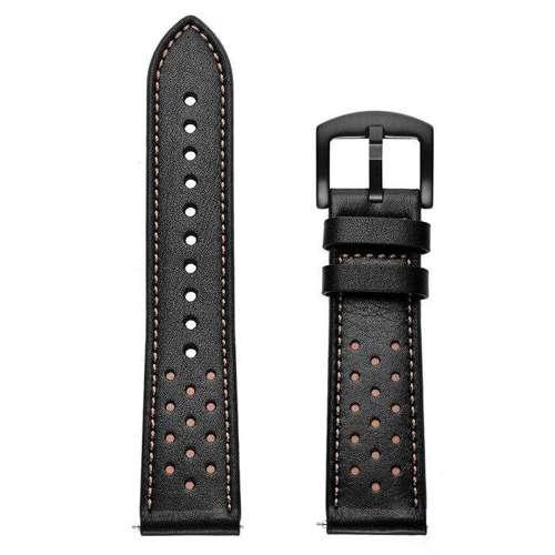 opaska pasek bransoleta LEATHER SAMSUNG GALAXY WATCH 46MM czarna