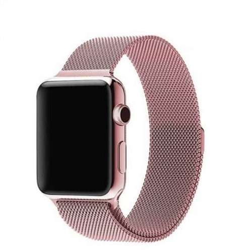 opaska pasek bransoleta MILANESEBAND Apple Watch 1/2/3/4/5/6/SE 38/40mm różowa