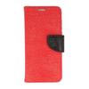 Etui portfel fancy SAMSUNG J5 2017 czerwono-czarny shine